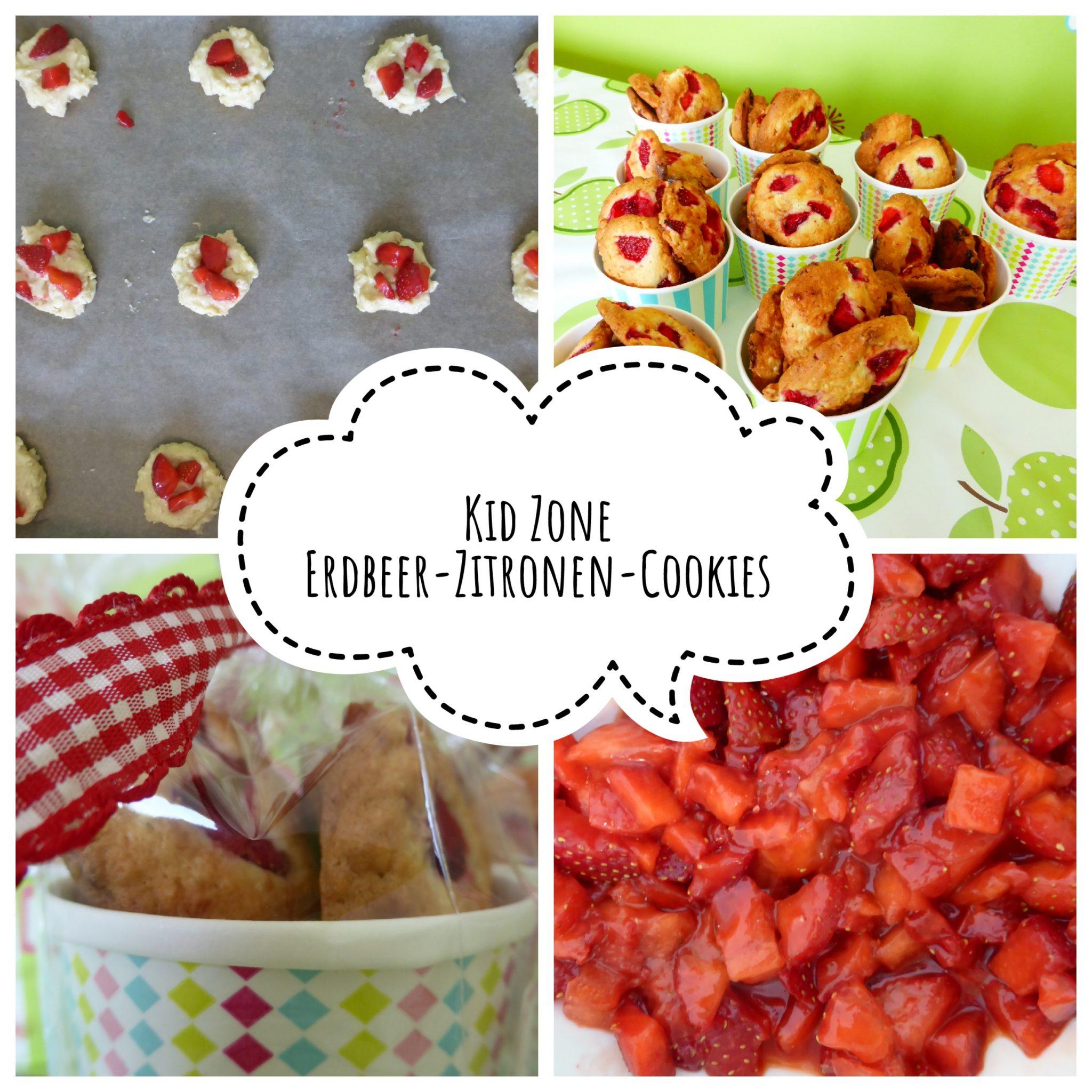 Kinder Erdbeer-Sommer-Cookies