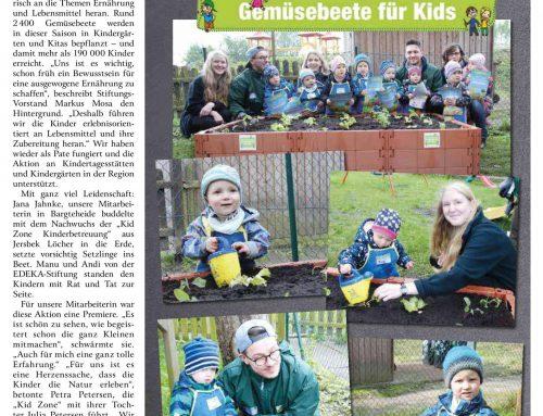 Kid Zone Gemüsebeet Aktion mit Edeka